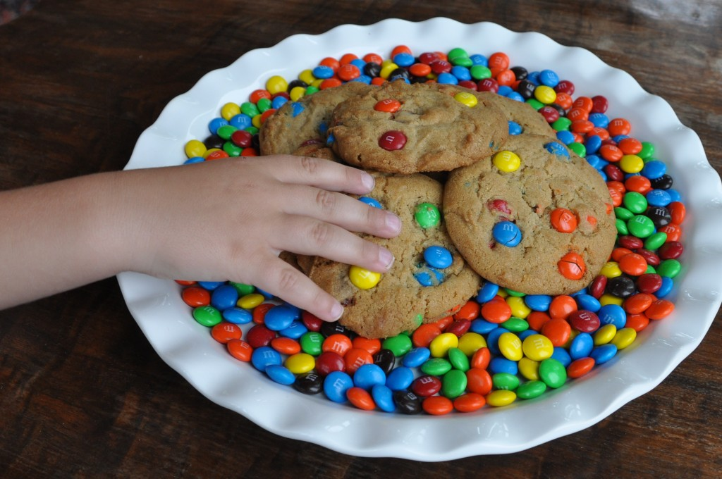 Jumbo M & M Cookies