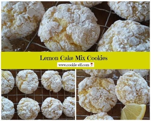 Lemon Cake Mix Cookies Also Called Lemon Crinkle Cookies Just 3