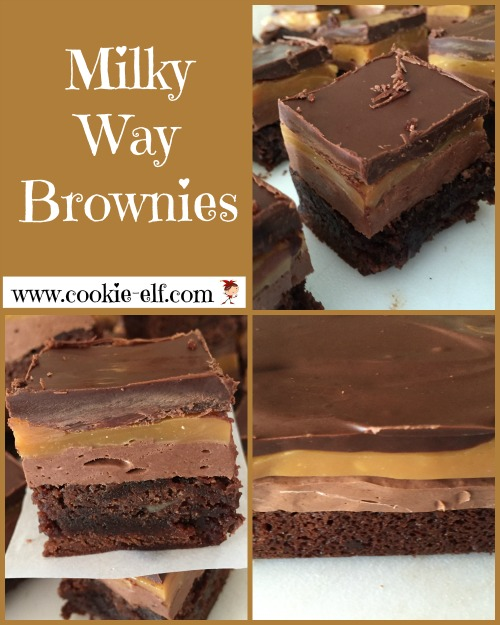 Milky Way Brownies from The Cookie Elf