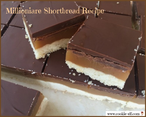 Millionaire Shortbread recipe with The Cookie Elf