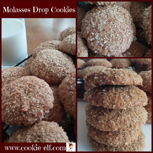 Molasses Drop Cookies from The Cookie Elf
