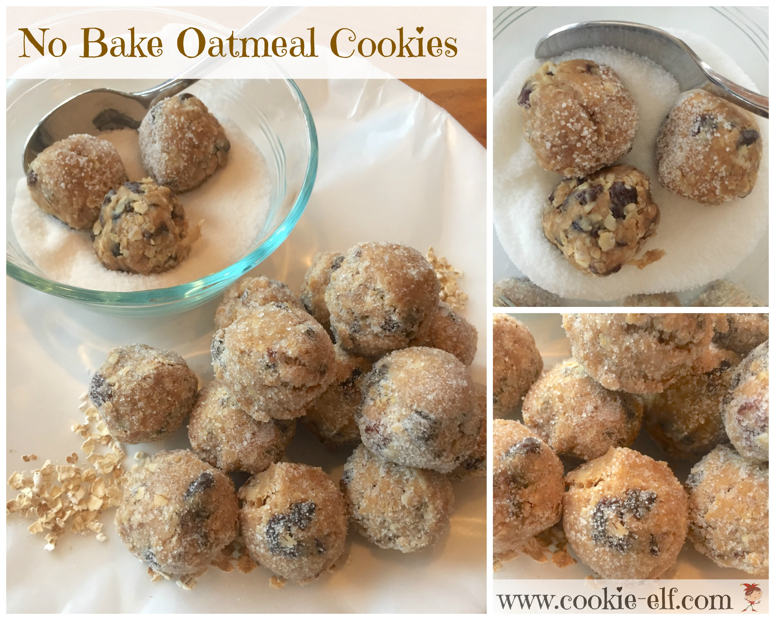 No Bake Oatmeal Cookies with The Cookie Elf