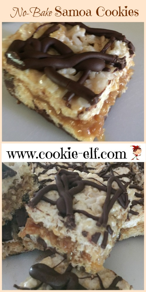 Easy No-Bake Samoa Cookies with The Cookie Elf