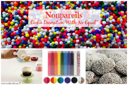 Nonpareils cookie decorations with The Cookie Elf