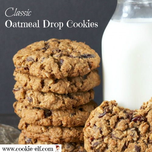 Classic Oatmeal Drop Cookies with The Cookie Elf