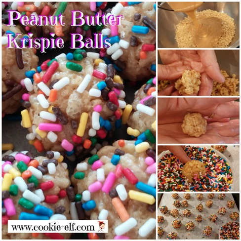 Peanut Butter Krispie Balls from The Cookie Elf