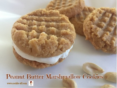Peanut Butter Marshmallow Cookies with The Cookie Elf
