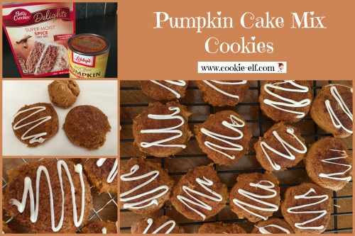 Pumpkin Cake Mix Cookies with The Cookie Elf