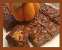 Pumpkin Cream Cheese Brownies from The Cookie Elf