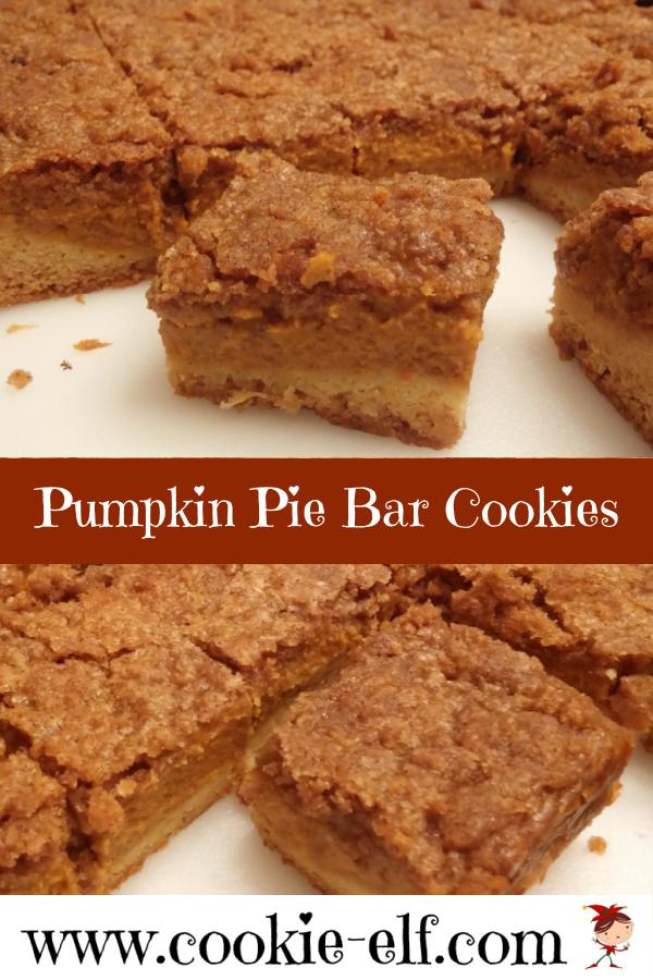 Pumpkin Pie Bar Cookies with The Cookie Elf #EasyCookieRecipe #BakingTips