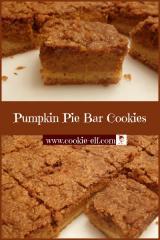 Pumpkin Pie Bar Cookies from The Cookie Elf
