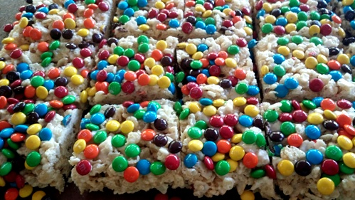Rainbow Rice Krispie Treats from The Cookie Elf