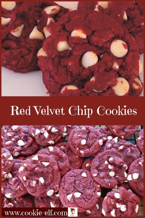 Red Velvet Chip Cookies with The Cookie Elf