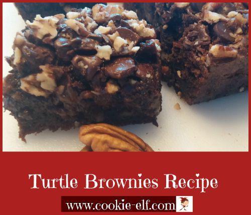 Turtle Brownies Recipe from The Cookie Elf