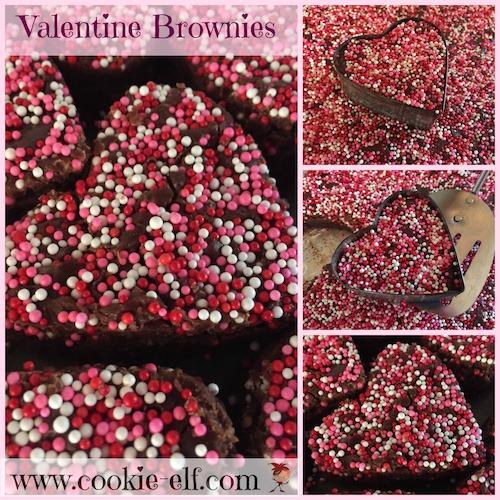 Valentine Brownies with The Cookie Elf