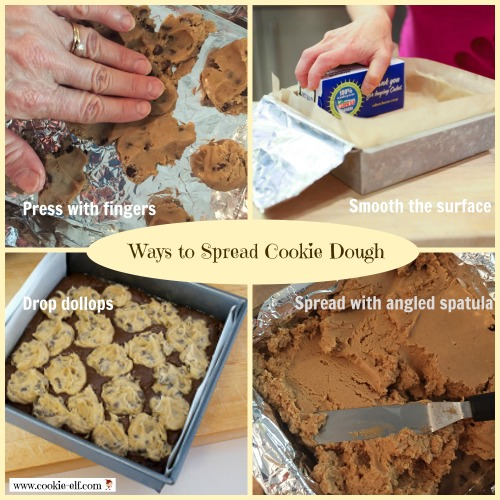 Ways to spread cookie dough from The Cookie Elf