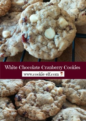 White Chocolate Chip Cranberry Cookies with The Cookie Elf