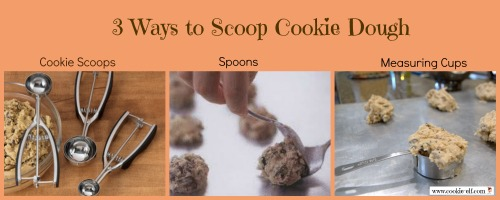 3 ways to scoop cookie dough from The Cookie Elf