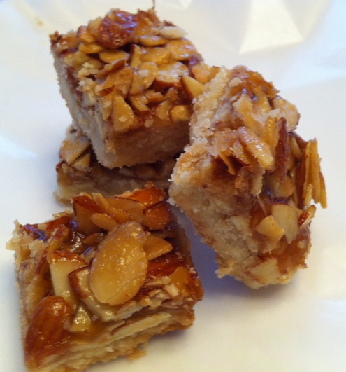 Almond Shortbread Bars