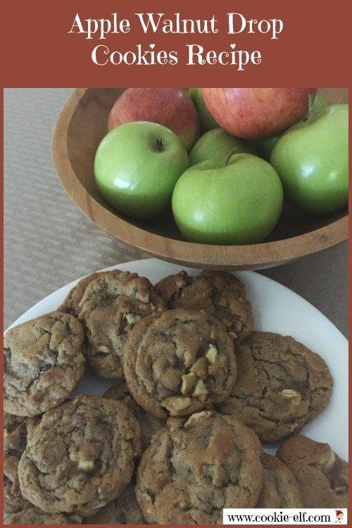Apple Walnut Drop Cookies recipe from The Cookie Elf
