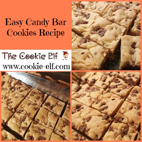Easy Candy Bar Cookies Recipe from The Cookie Elf