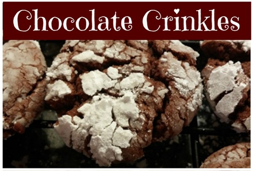 Chocolate Crinkles: easy cake mix cookie recipe