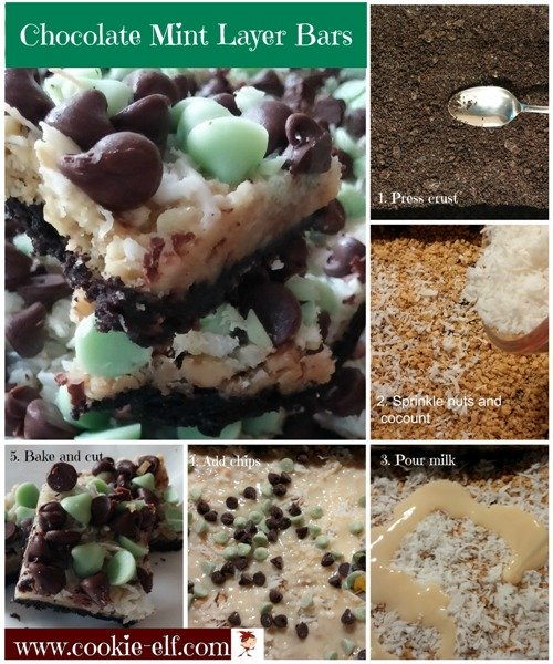 Chocolate Mint Layer Bars from The Cookie Elf