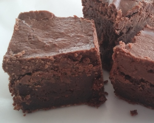 Frosted Chocolate Brownies from The Cookie Elf