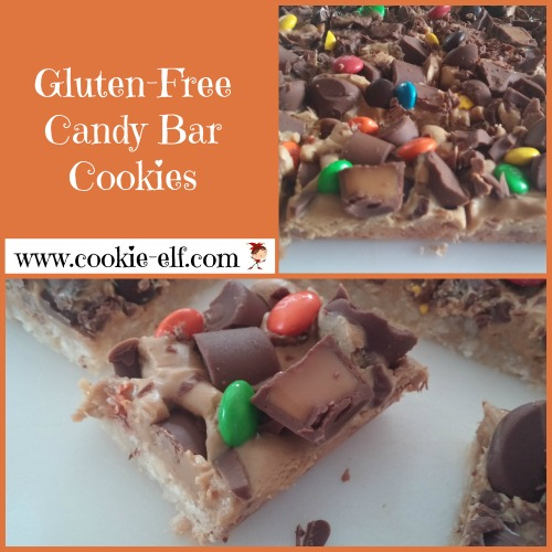 Gluten Free Candy Bar Cookies from The Cookie Elf