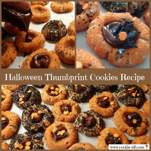 Halloween Thumbprint Cookies Recipe from The Cookie Elf