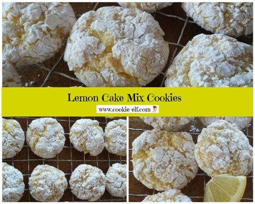 Lemon Cake Mix Cookies, also known as Lemon Cool Whip Cookies, from The Cookie Elf