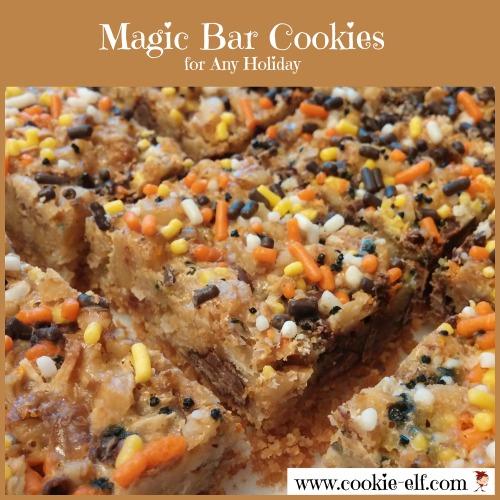 Halloween Magic Bar Cookies from The Cookie Elf