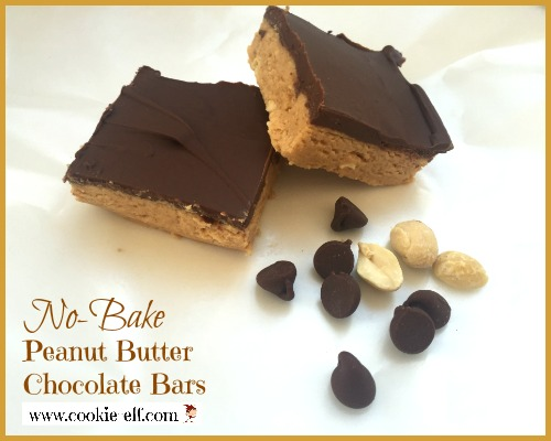 No-Bake Peanut Butter Chocolate Bars with The Cookie Elf