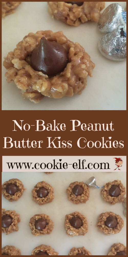 No-Bake Peanut Butter Kiss Cookies with The Cookie Elf