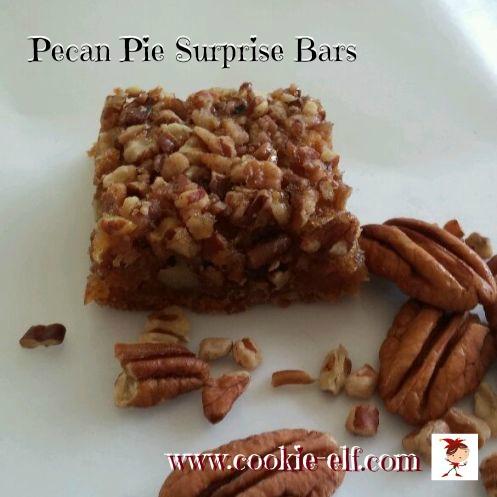 Pecan Pie Surprise Bars by The Cookie Elf