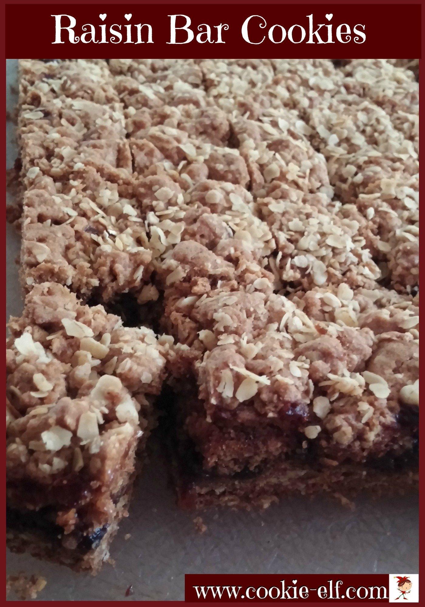 Raisin Bar Cookies from The Cookie Elf
